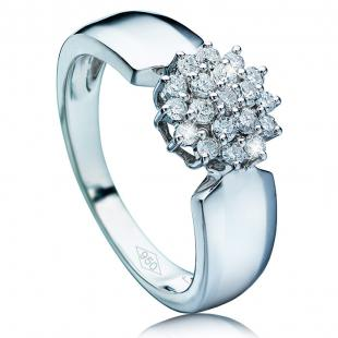 Anillo de diamantes Plantinum Diamonds